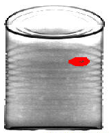 X-ray of Can with contaminant