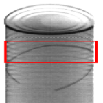 X-ray of Can with metal trim